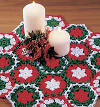 Crocheted Holiday Table Center