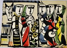 Signed Original Sadao Watanabe Japanese Woodblock Biblical Print Vtg Modern Holy | eBay
