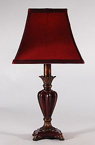 Small Red Brown Accent Lamp by Crestview via Lampstore.com