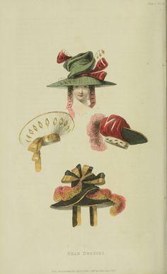 Hats, 1828 UK, Ackermann's Repository