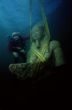 Lost Egyptian city found under the sea #Egypt #Travel #Underwater
