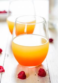 Lightened-Up Raspberry Coconut Punch - Sweet, tangy, refreshing and isn't a caloric lead balloon!