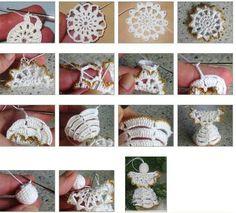 crochet angel, christma crochet, crochet tutori