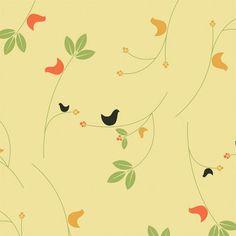 Birds & Berries Shelf paper
