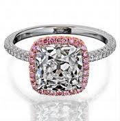 pink halo cushion cut engagement ring Beautiful!