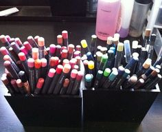 lip and eye pencils galore!