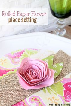 Rolled Paper Flower Setting
