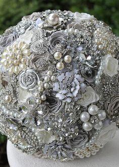 Silver Wedding Brooc