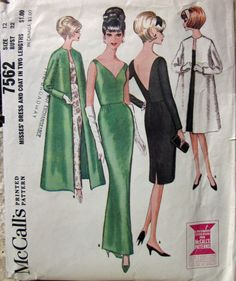 Vintage 1964 McCalls 7562 RARE Sewing Pattern by desertcottage, $25.00 vintag pattern, fashion pattern, sew pattern, sewing patterns