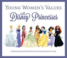 Young Women's Values with Disney Princesses