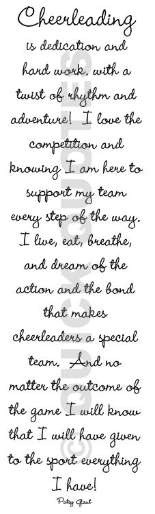cheer quotes | Cheerleading Quotes #4 | Quotes Picture