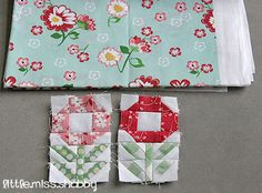 Mini Posies Quilt Block Tutorial