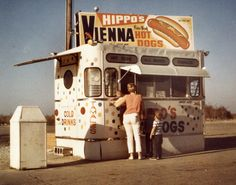 #TBT That's me on the right. My mom is holding little brother Robby. Hippo's Hot Dogs on Higgins Road, Hoffman Estates, Illinois, circa 1970. Hippo's was the king of the Chicago hot dog before Portillo's owned it. JJ