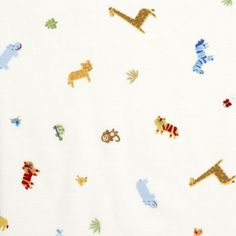 Carter's Easy-Fit Printed Crib Fitted Sheet-Animal