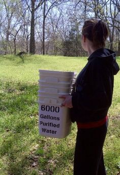 6000 Gallons Of Pure Water Anyone In The Family Can Carry