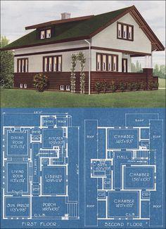 Prairie School Bungalow - American Homes Beautiful - 1921 - Bowes