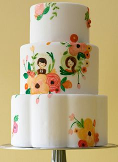 Adorable floral cake