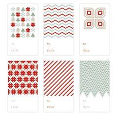 Printable Christmas Gift Tags {Christmas Printables}