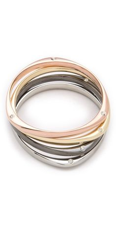 Mixed Metals Bangle Set