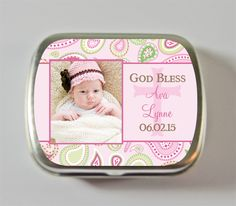 girls baptism favors personalized
