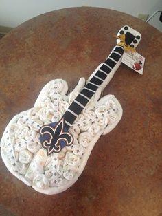 Rock star guitar diaper cake