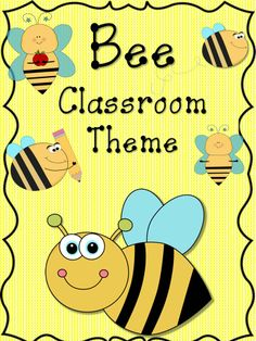 Bee Classroom Theme!!! This is 100 pages packed full of everything you will need for a colorful bee themed classroom. I used eight different bee characters with a pattern background. The background colors I chose were blue, green, yellow, red, orange, and purple.  $