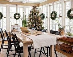 Hang wreaths on all the windows.  Love this idea!