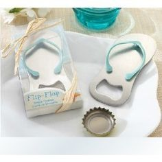 "THESE ARE CUTE @Sarah Chintomby Chintomby Cossabone  and @Danielle Lampert Lampert Torres for your beach wedding!! Loveshop Special""pop the Top"" Flip-flop Bottle Opener for Wedding Favors-set of 24 by Love Shop. $41.99. Great for bridal showers.. Your wedding guests will love these wedding favors. Shipping Weight:1 pounds. Practical wedding favor gifts.. Measures 1.25"" x 3.5"". Popping the"