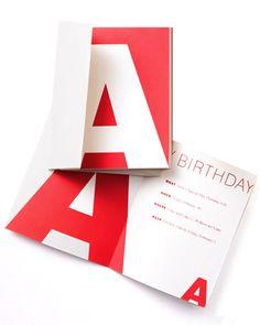Initial Clip-Art Birthday Invitation