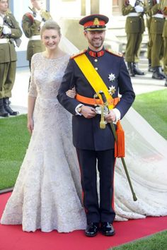The Royal Order of Sartorial Splendor: The Luxembourg Royal Wedding: Prince Guillaume and Princess Stephanie