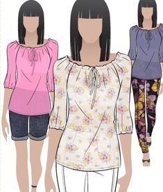 30 minutes peasant blouse pattern