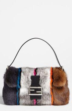 Fendi Genuine Mink Fur Baguette available at #Nordstrom....never gonna happen, but I can dream!