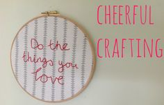 An easy embroidery project for beginners