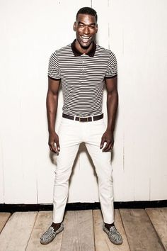 polo and stone colored pants