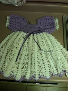 Love this crocheted baby dress!