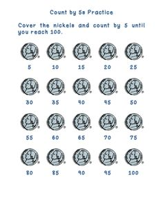 Here's a set of coin counting mats for skip counting by 5 and 10.