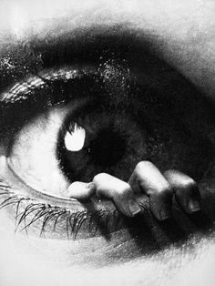 black & white   art   eye   fingers   photography   cool   spooky   scary   breaking out
