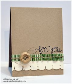 Kraft cardstock and a wooden button