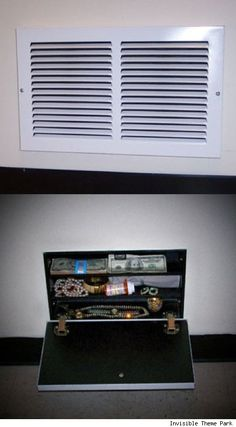 Secret compartment behind air vent