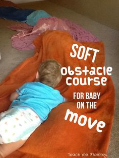 Soft obstacle course for baby- Teach me Mommy blog