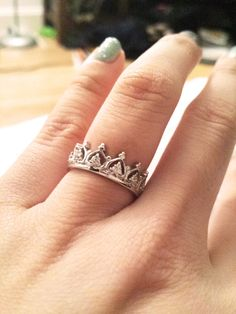 Pave Elizabeth Crown Ring