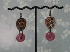 Handmade Copper and Stone Earrings by SilverSeahorseDesign on Etsy