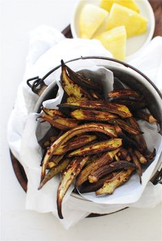 Baked Okra / Bev Cooks