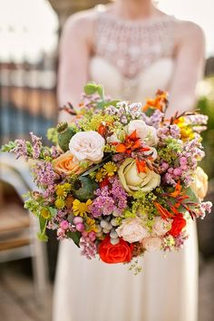 Autumn inspired wedding bouquet