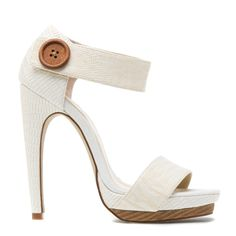 Aisling in ivory by ShoeDazzle
