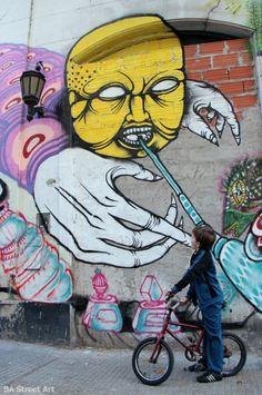 ENE ENE with MALEGRIA new mural in San Telmo
