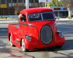 Custom Cab Over Engine Flatbed Truck, via Flickr.