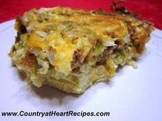 Country at Heart Recipes: Breakfast Crockpot casserole