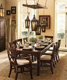 interesting light source for the dining room without ladder