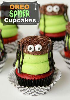 Oreo Spider Cupcakes